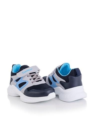 Tonny Black Lacivert Turkuaz Çocuk Spor Ayakkabı Tbk08 Lacivert